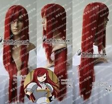 """FAIRY TAIL ERZA Dark Red cosplay long wig 100CM /40"""" H62"""