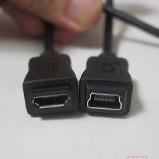 Micro USB B 5p female to Mini B 5pin female data charge usb cable cord