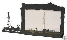 Oil Rig black metal 4x6H picture frame