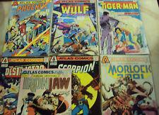 ATLAS COMICS WULF PHOENIX DESTRUCTOR SCORPION TIGER-MAN