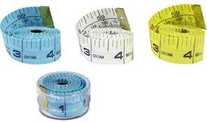 "New 1pc 60"" 150cm Soft Fibric Cloth Tape Measure Ruler Dual Sided SAE & Metric"