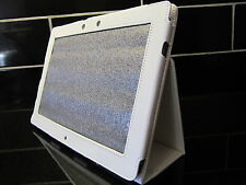 White PU Leather Carry Case/Cover/Stand for Asus Eee Pad TF201 Transformer Prime