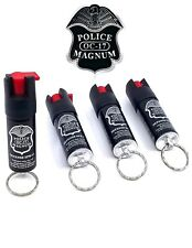 4 PACK Police Magnum pepper spray 1/2oz Keyring Self Defense Security Protection