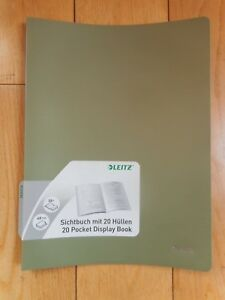 A4 Leitz Display Book Presentation Folder 20 Pockets Green