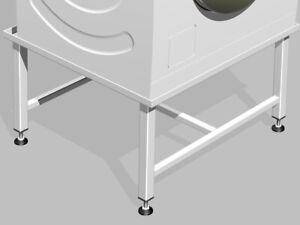 Waschmaschinen /Trockner Untergestell Podest Sockel Unterbau Gestell 30cm hoch