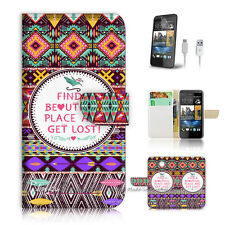 ( For HTC Desire 310 ) Case Cover! P0711 Aztec Pattern