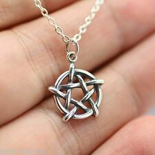 PENTAGRAM NECKLACE - 925 Sterling Silver - Pagan Wicca Christ Upright 5 Point