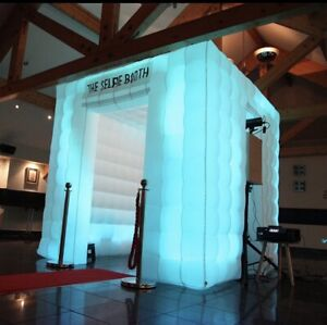 Selfie portable inflatable LED Photo Cube Booth