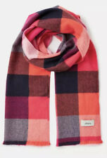 New Joules Woven Checked Scarf in BRIGHT GINGHAM in One Size