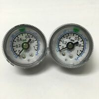 Lot of 2 SMC G36-P10-01-X30 Air Pressure Gauges 0-150psi 0-1MPa, 37mm Dia, R 1/8