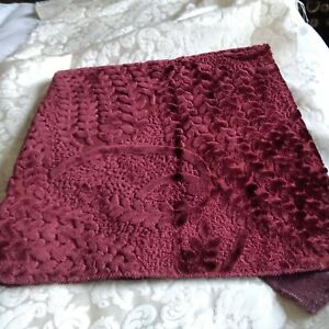 Remnant Upholstery Fabric - Chenille Red ( Wine) - 1 metre