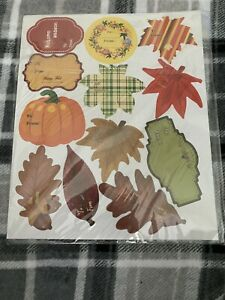 120 Pc Autumn Gift Tag Stickers