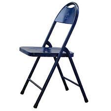 Antiqued Metal Folding Chair Blue - 36120BLUE