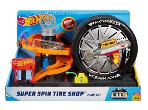 NEW Hot Wheels Super Spin Tire Shop