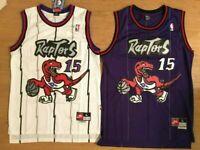 NWT Vince Carter #15 Toronto Raptors Purple/White Men's Home/Away Sewn Jersey