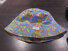 Ralph Lauren Polo Bucket Hat Cap Blue Green Small Medium Sport Hip Hop Rap 90s