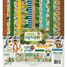 Jungle Safari Collection Kit 12X12 Scrapbooking Kit Echo Park Paper JS117016 New