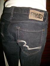 Pantalon jean noir taille basse droit RWD DAILY W29 38FR poches suripquées 16VP4