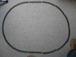 Tyco Oval of Track. 12x18 Inch Radius Curves and 2 x Straights. HO. Steel Unused