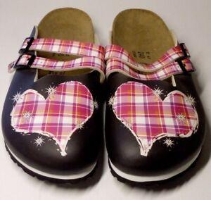 Ladies Size 4 UK Unboxed Heart Design Birki's Sandals Leather Designer #708