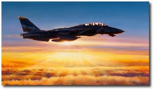 In The Courtyard Of God by Rick Herter - Navy F-14 Tomcat - Aviation Art- Canvas