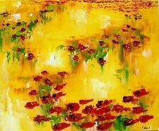 tableau original contemporain peinture paysage marais oil painting canva