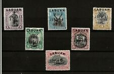 BORNEO LABUAN  (394 ) 1896 SG83-88 JUBILEE CESSION FULL SET OF 6 MOUNTED MINT