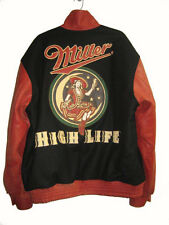 JEFF HAMILTON MILLER HIGH LIFE JACKETS: WOOL / DISTRESSED LEATHER:LEATHER LOGOS