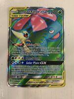 Pokemon Cosmic Eclipse Venusaur & Snivy GX Tag Team Full Art Holo Rare #210/236
