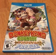 Donkey Kong Country Tropical Freeze For Wii U With Manual And Case Nintendo Game