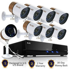 ELEC 8CH 1500TVL 1080P Lite HDMI CCTV DVR In/Outdoor Home Security Camera System