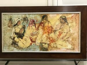 Jose Salazar Ruiz Esparza  – Large Original Oil – 1968