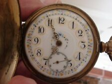 Vintage Columbus Watch Co Fancy Dial  Pocket Watch