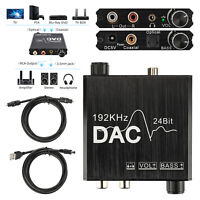 192kHz Digital SPDIF Optical to Analog Audio Converter Stereo Bass Sound Adapter