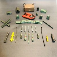 Vintage 1984-85 GI Joe Lot Of Weapons Parts Ammo Missile Base Camp Accessories