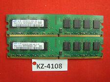 4 Go (2x2gb) Samsung m378t5663qz3-cf7 pc2-6400 ddr2-800 Mémoire PC Bureau