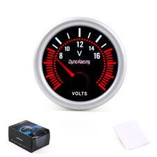 """2"""" 52mm White LED Pointer Car Voltage Volt Meter Gauge Smoke Len Tint 8-16V"""