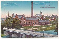 Ak Hof in Bayern Partie am städtischen Elektrizitätswerk um 1915 !