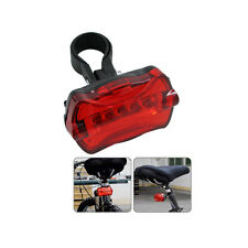 LED Bicycle Tail Light Red with Fitting kit 7 Modes 5 LED Light