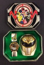 MIghty Morphin Power Rangers WHITE RANGER WATCH & HELMET BEEPER Tin Case 1995
