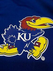 Adidas Mens Kansas Jayhawks SZ XL Basketball On Court Warm Up Jacket Blue