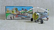 AIRCRAFT HELICOPTER MECHANICAL TIN TOY WIND UP # 6 NIB MADE IN GREECE GREEK