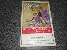HULL CITY  v  SOUTHPORT  1947/8  ~ DECEMBER 26th  BOXING DAY *****FREE POST*****