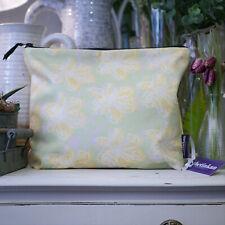 Yellow Flower Splash Travel Beauty Make Up Washbag - created by thetinkan