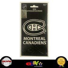 """(HCW) Montreal Canadiens NHL Licensed 3.5"""" White Decals Set of Two"""