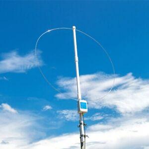 Kurzwellen-Empfangsantenne für aktive Schleife im Freien 100~180 MHz mit Batteri