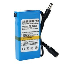 Portable Super Power DC 12V Rechargeable 1800mAh Li-ion Battery Pack Blue New