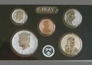 2018-S Silver,  Reverse Proof 5 COIN Half of Set. LIGHT KENNEDY. NO QUARTERS
