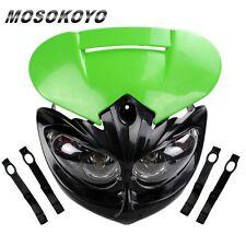 Motocross Headlamp For KAWASAKI KL KLX KLR 250 450 Dirtbike MX Headlight Green