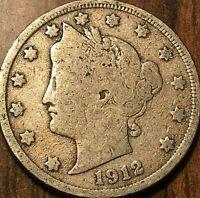 1912 USA 5 CENTS LIBERTY